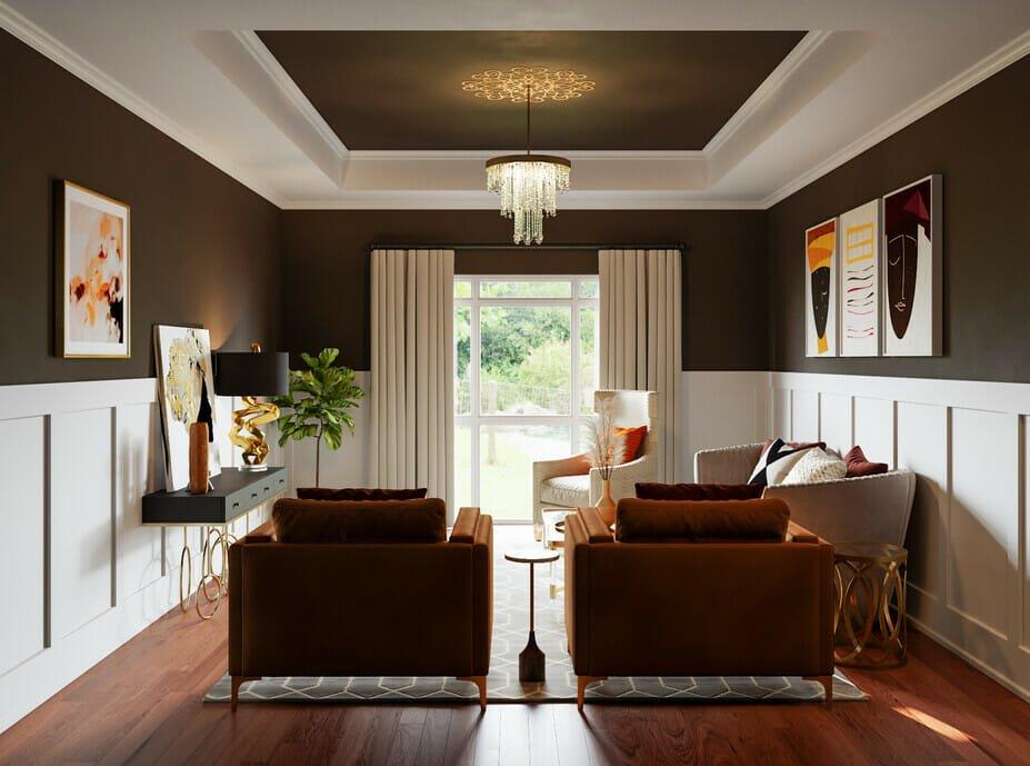 Beautiful, luxury glam living room
