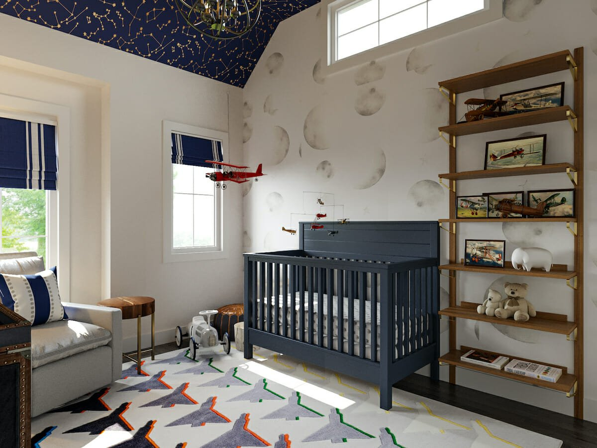 Cute nursery décor from local small shops by Decorilla designer, Berekely H.