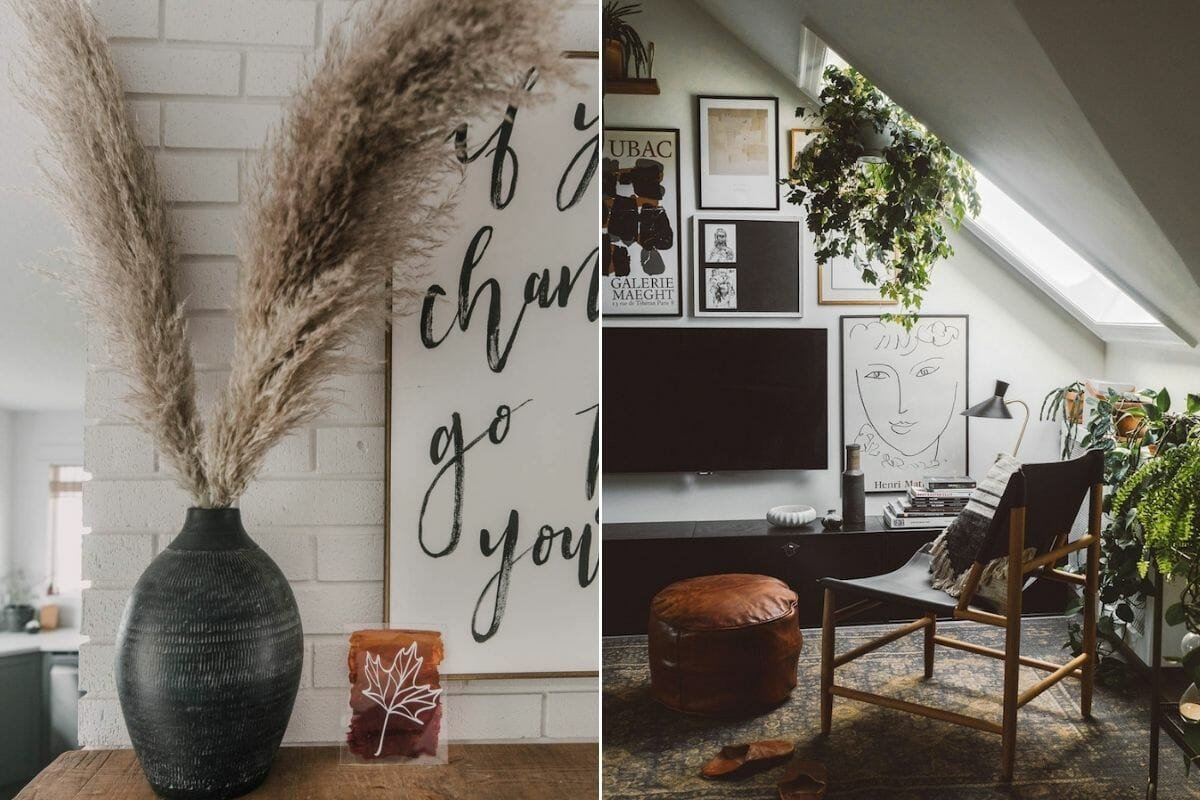 Fall home décor for the living room and mantel