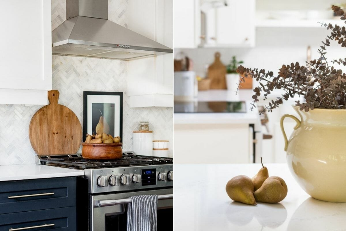 Fall kitchen décor with pears