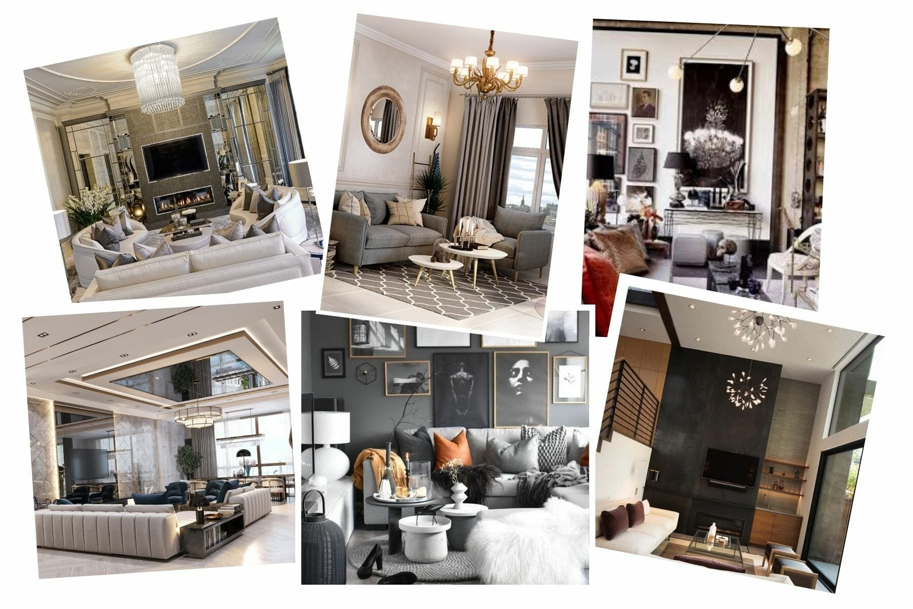 Glam living room ideas and inspiration board