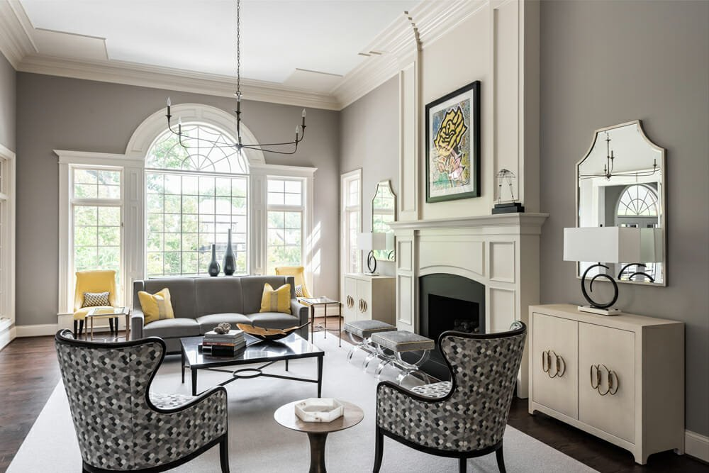 Gorgeous living room by one of the top St. Louis interior designers, Jennifer Rapp