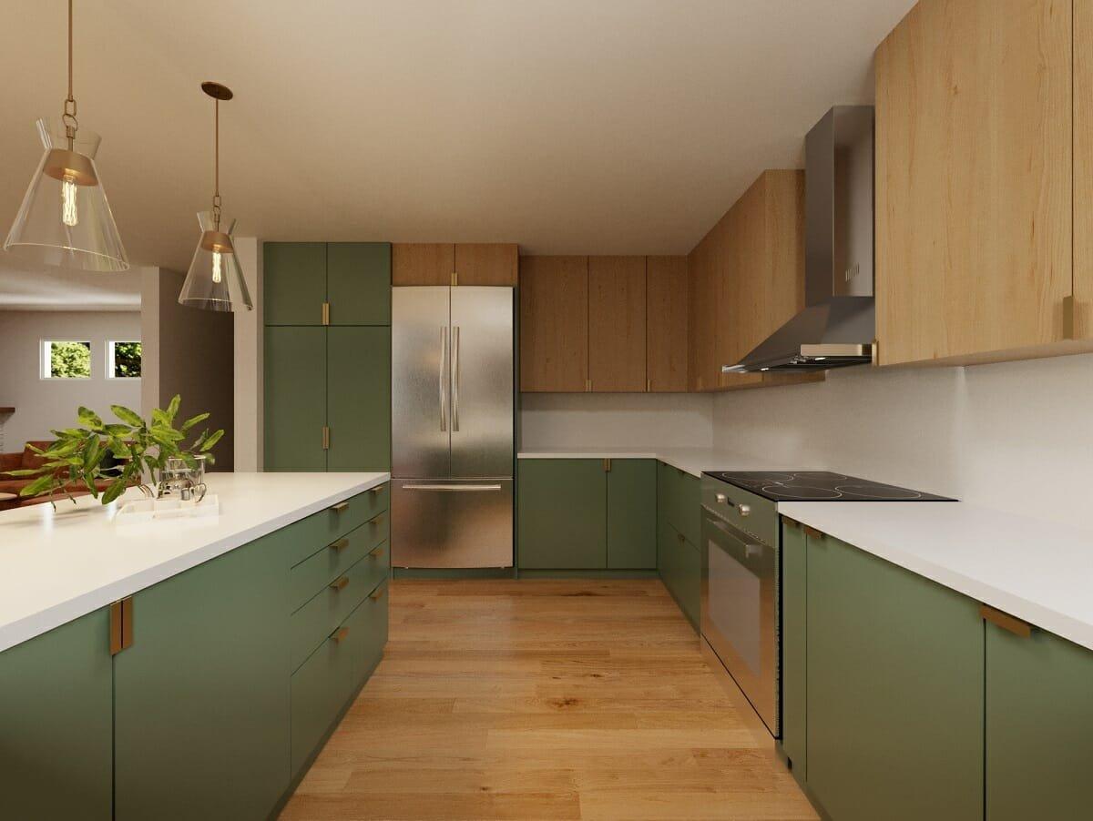 Green kitchen cabinet colors 2022 - Wanda P