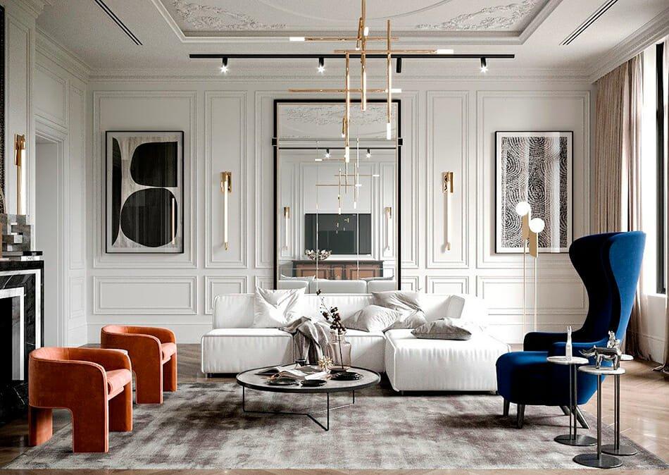 Luxe modern classic interior design