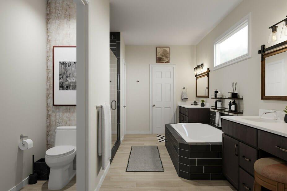 Manly bathroom with stylish house decor