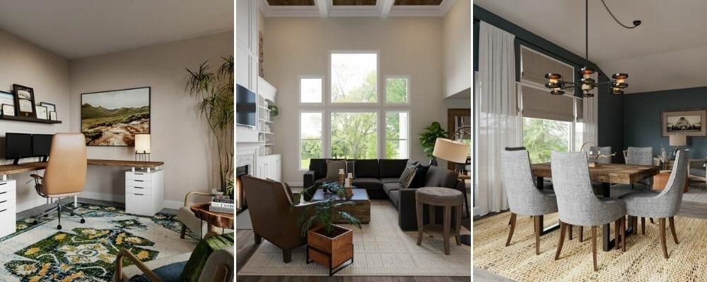 Masculine interiors - online interior design