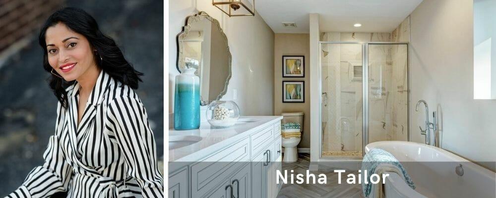 Modern bathroom by interior decorator St. Louis, Nisha