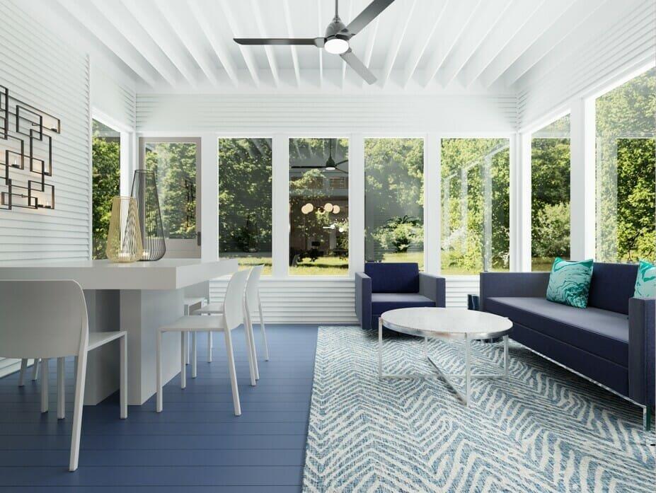 Modern classic house design for a sunroom