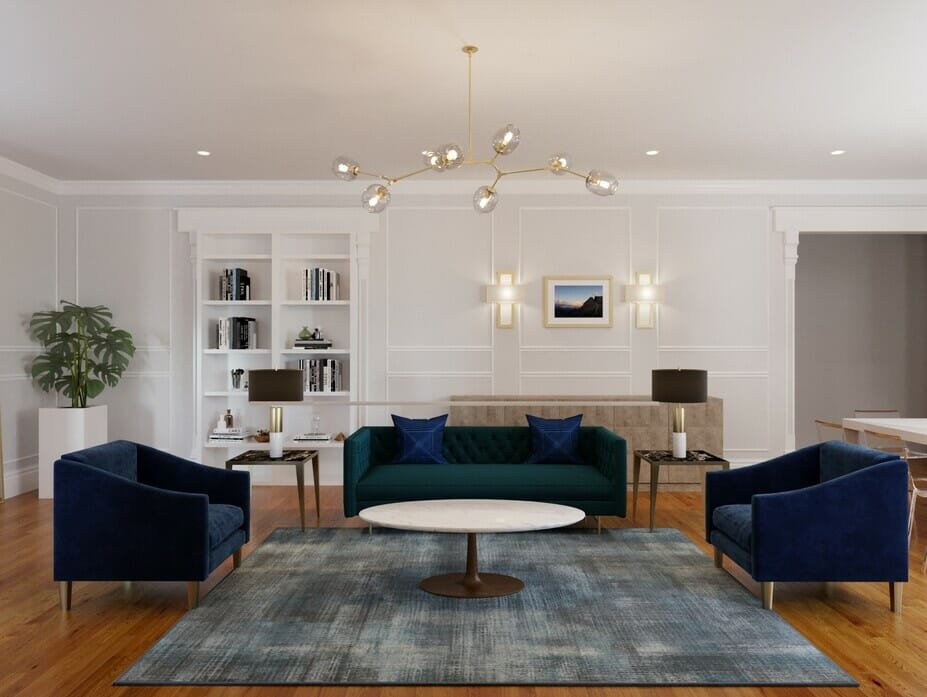 Modern classic interior for a living room
