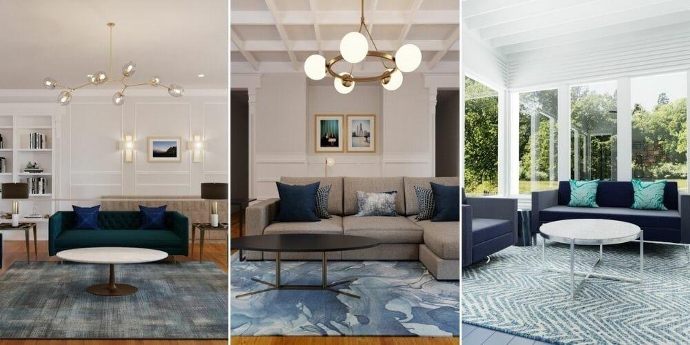 Modern classic living room designs