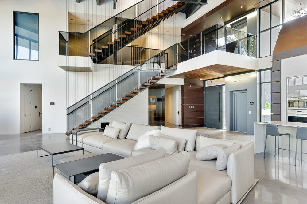 Modern contemporary living room by one of the top interior decorators New Orleans