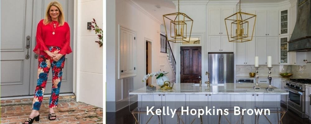 Modern kitchen by one of the top New Orleans interior designers, Kelly Hopkin Brown