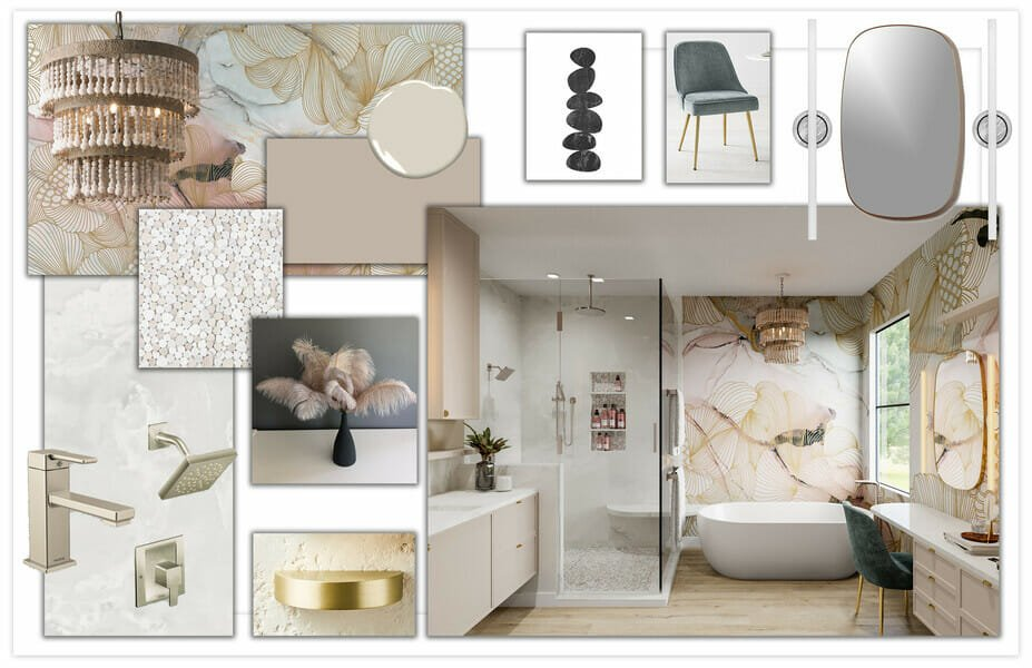 Moodboard for online design which makes great housewarming presents