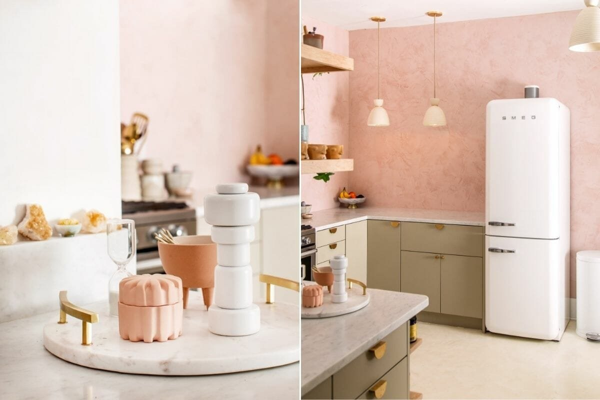 Pink kitchen colors 2022 - Domino