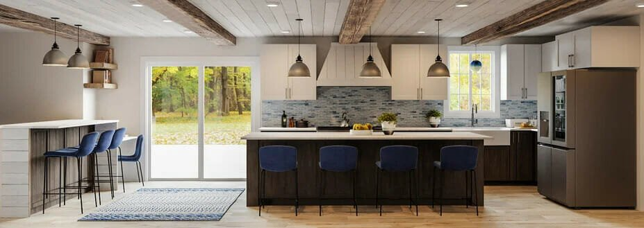 Rustic kitchen decorations by Decorilla