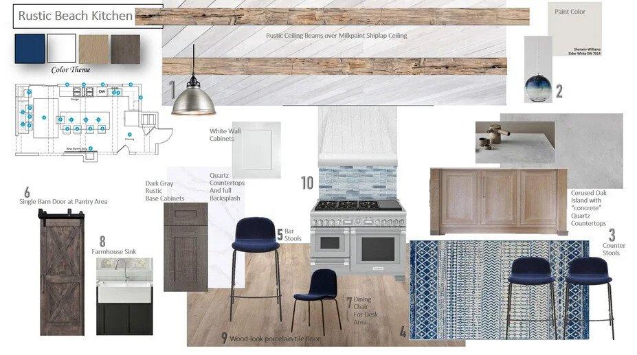 Rustic kitchen mood board by Decorilla