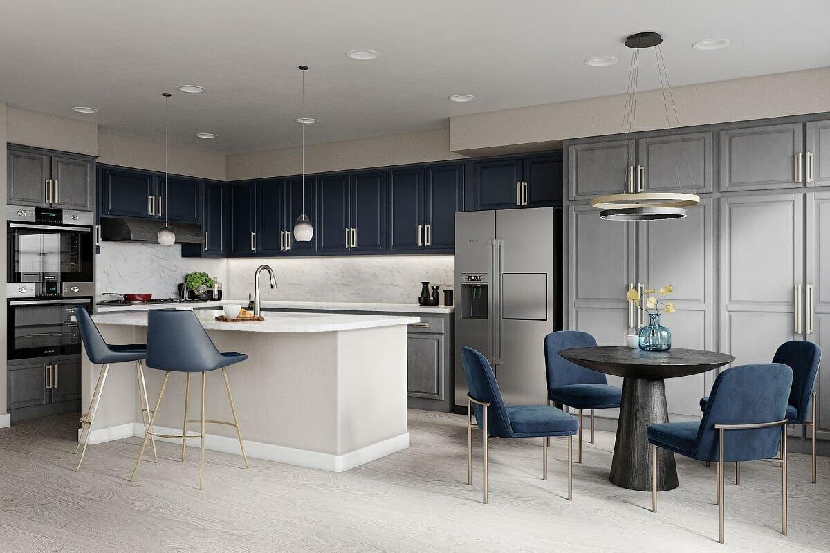 Two tone kitchen cabinet paint colors 2022 -Wanda P