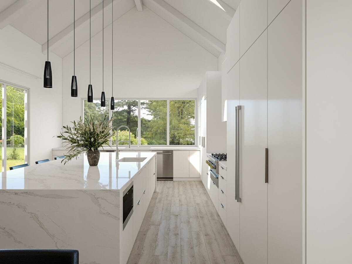 White kitchen remodel ideas 2022 - Wanda P.