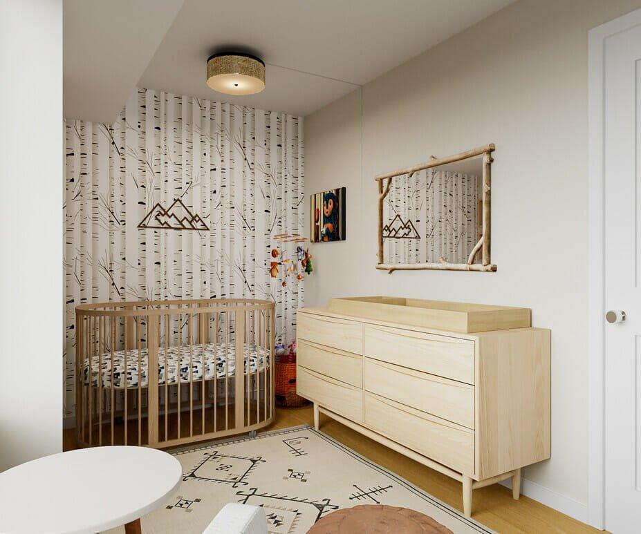 Woodland animal nursery decor by Decorilla designer