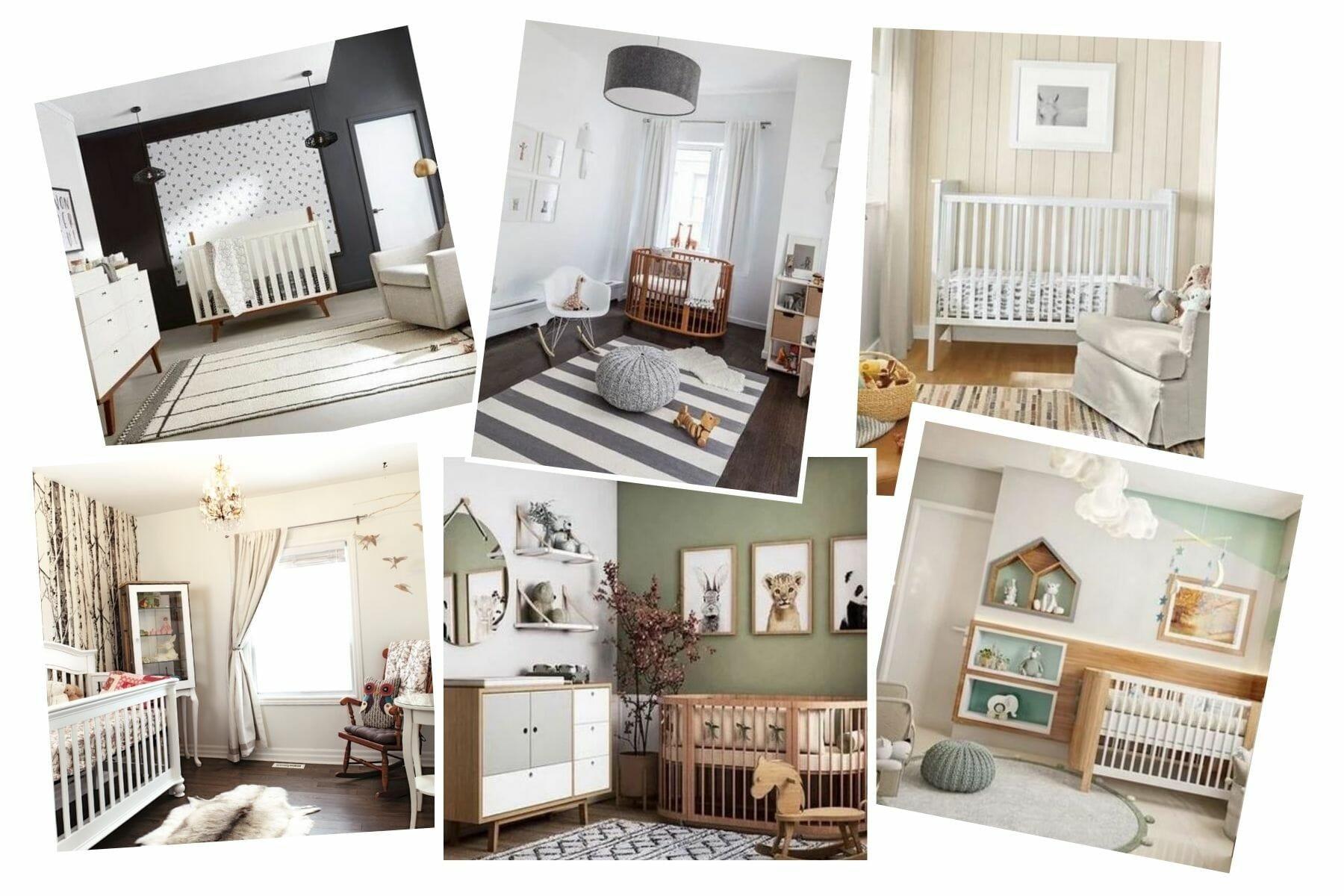 Woodland themed nursery inspiration board
