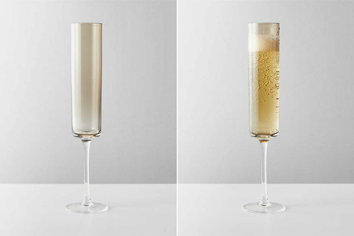 champagne glasses as housewarming gifts