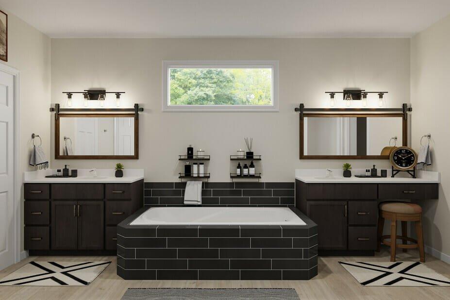 masculine interior design for a bathroom