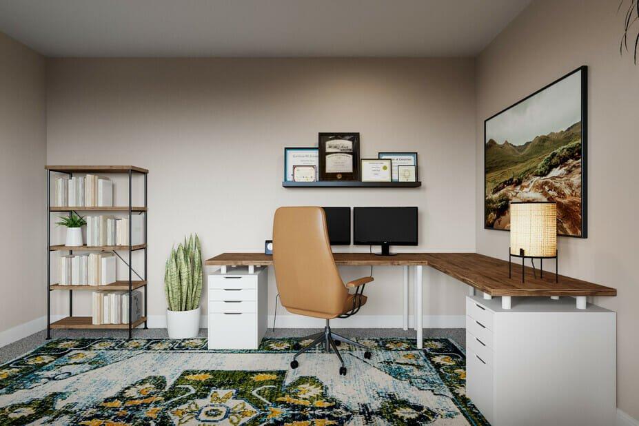 masculine interior design for a study
