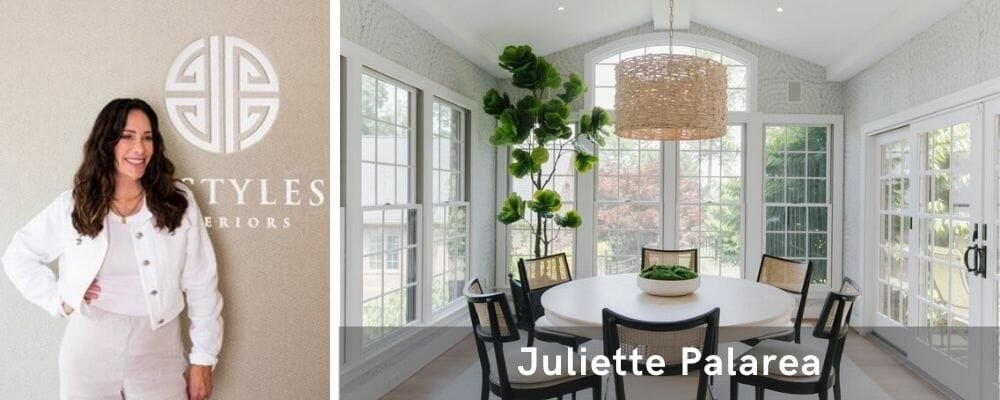 All-white dining area by top interior decorator, Juliette Palarea