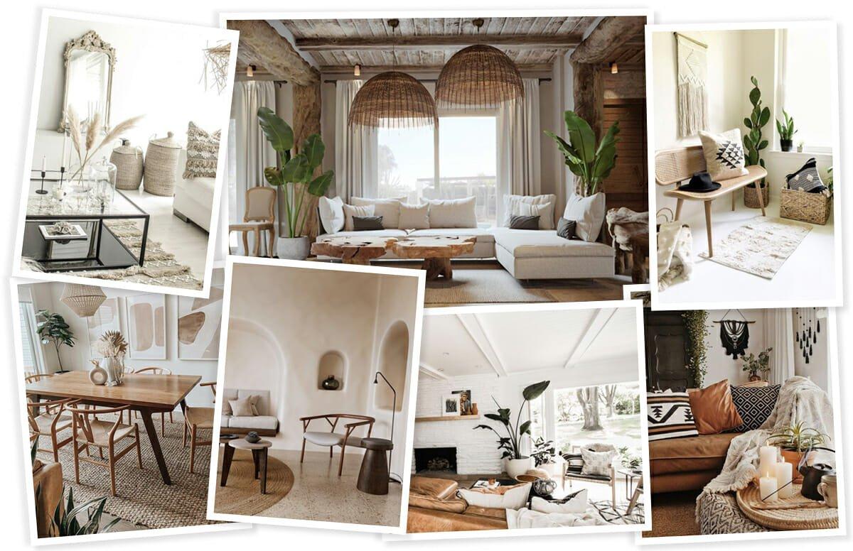 Boho scandi style decor inspiration