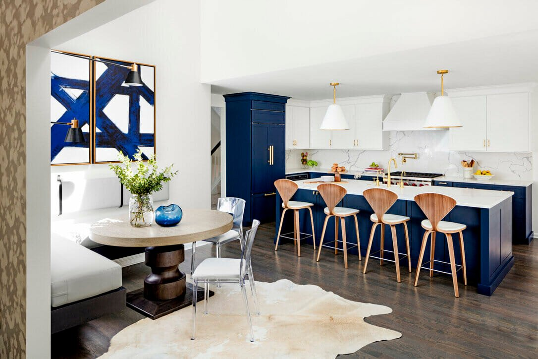 Chic kitchen by one of the top Baltimore interior design firms