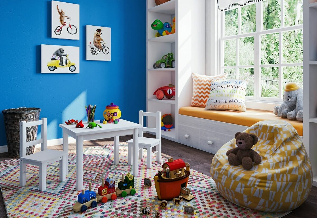 Choosing a rug and rug pad for a colorful playroom - Joao A.