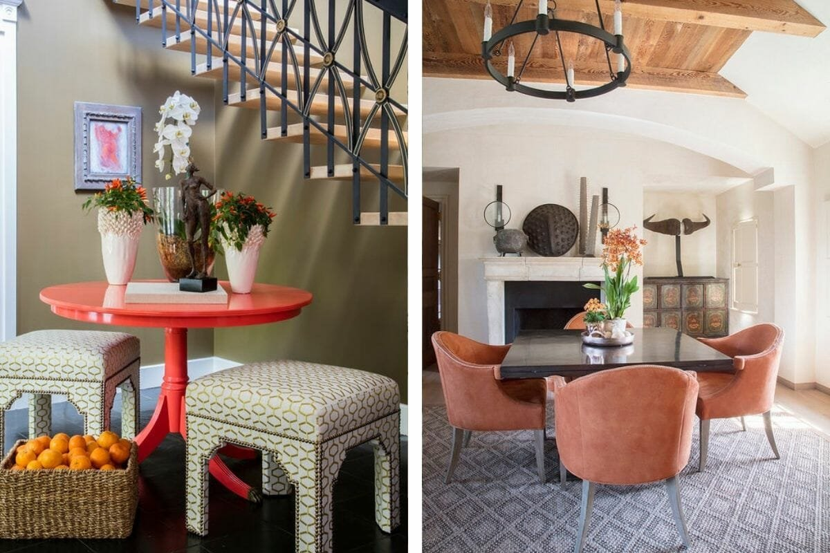 Colorful living spaces by of the the top Baltimore interior design firm