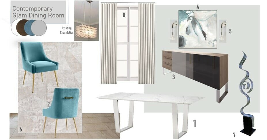 Glam dining room ideas