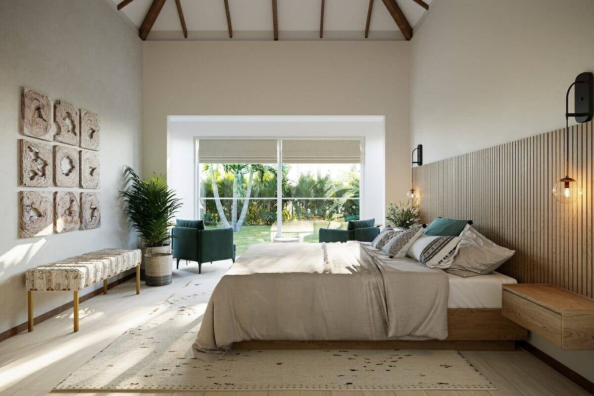 How to choose an area rug size and color for a bedroom - Wanda P.