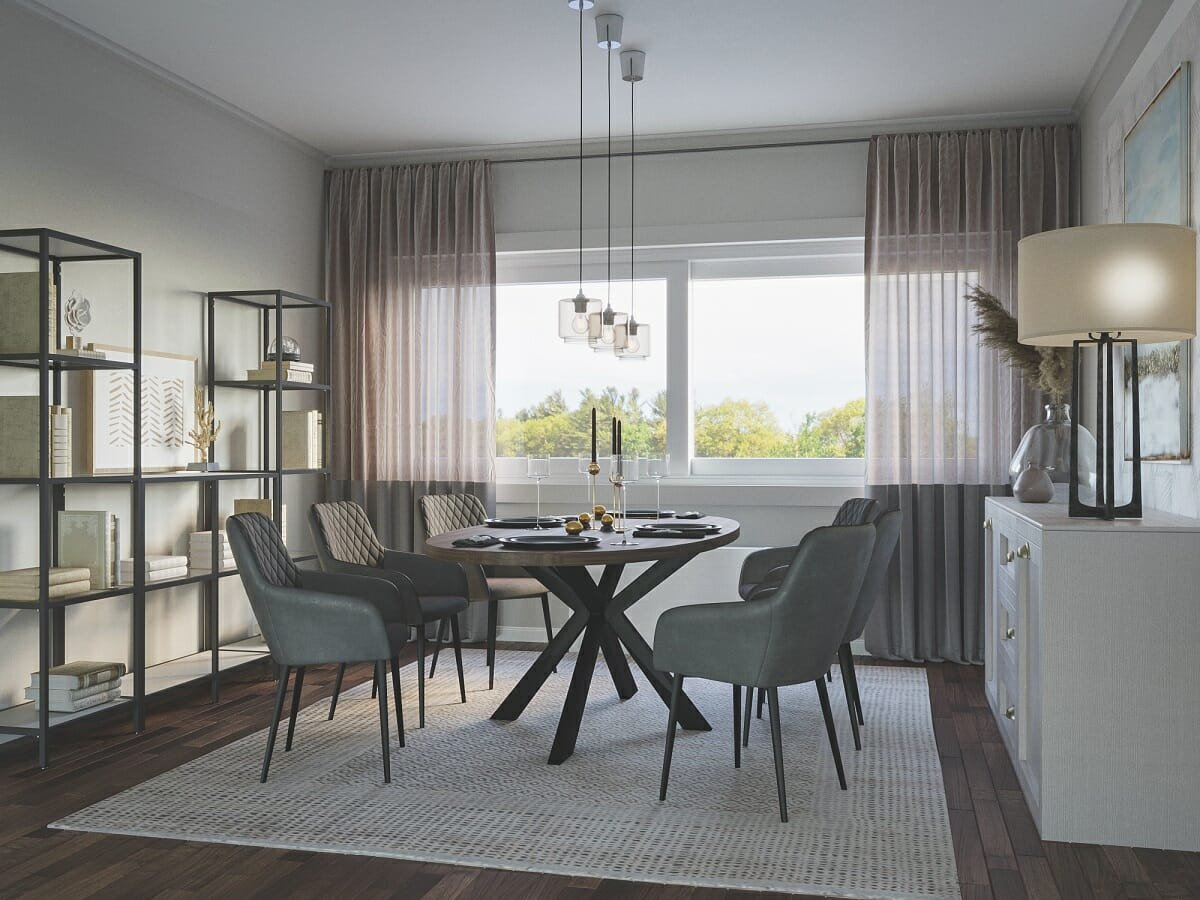 How to choose and place a rug in the dining room - Darya N.