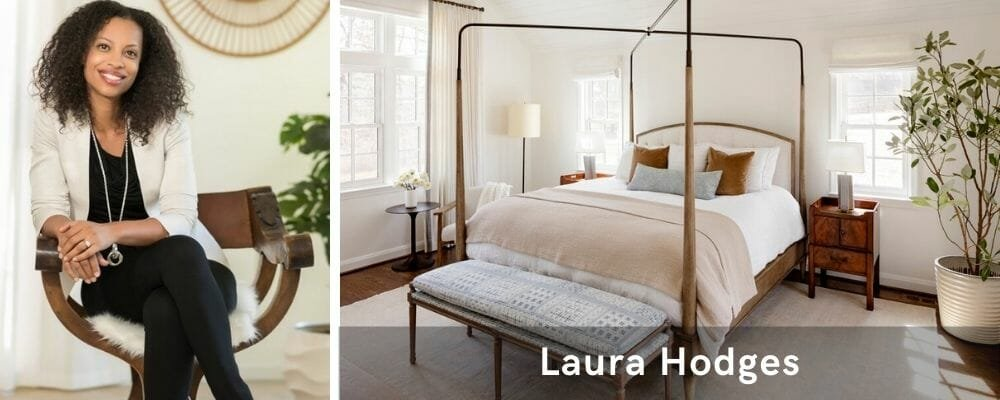 Minimal bedroom by top interior decorator, Laura Hodges