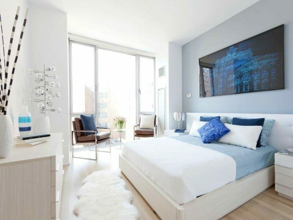Modern bedroom by Decorilla, top Baltimore interior design firm