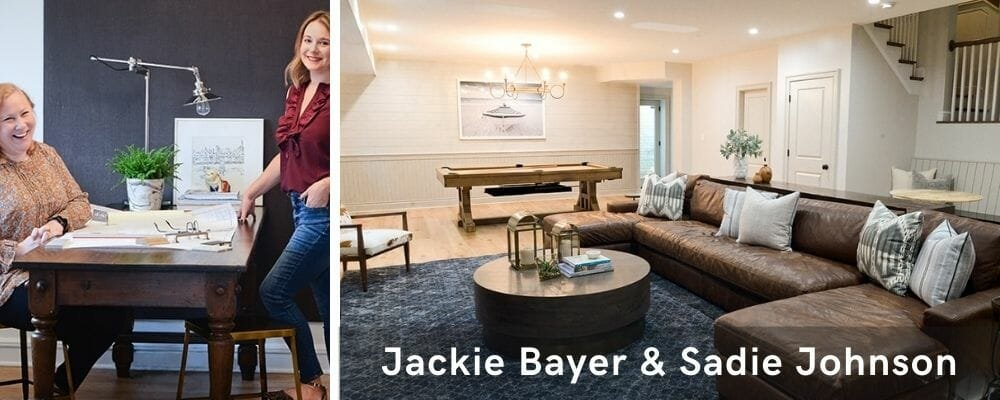 Modern living room by one of the top Baltmore interior designers, Jackie and Sadie