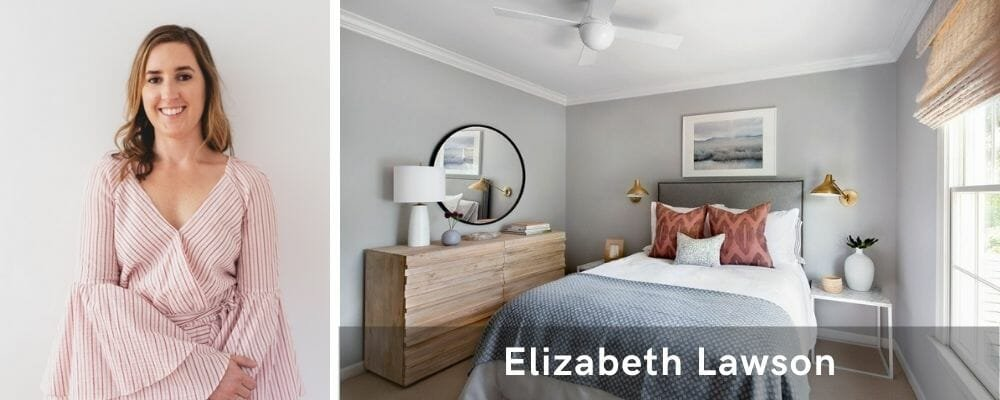 Neutral bedroom by of the top Baltimore interior designers, Elizabeth Lawson