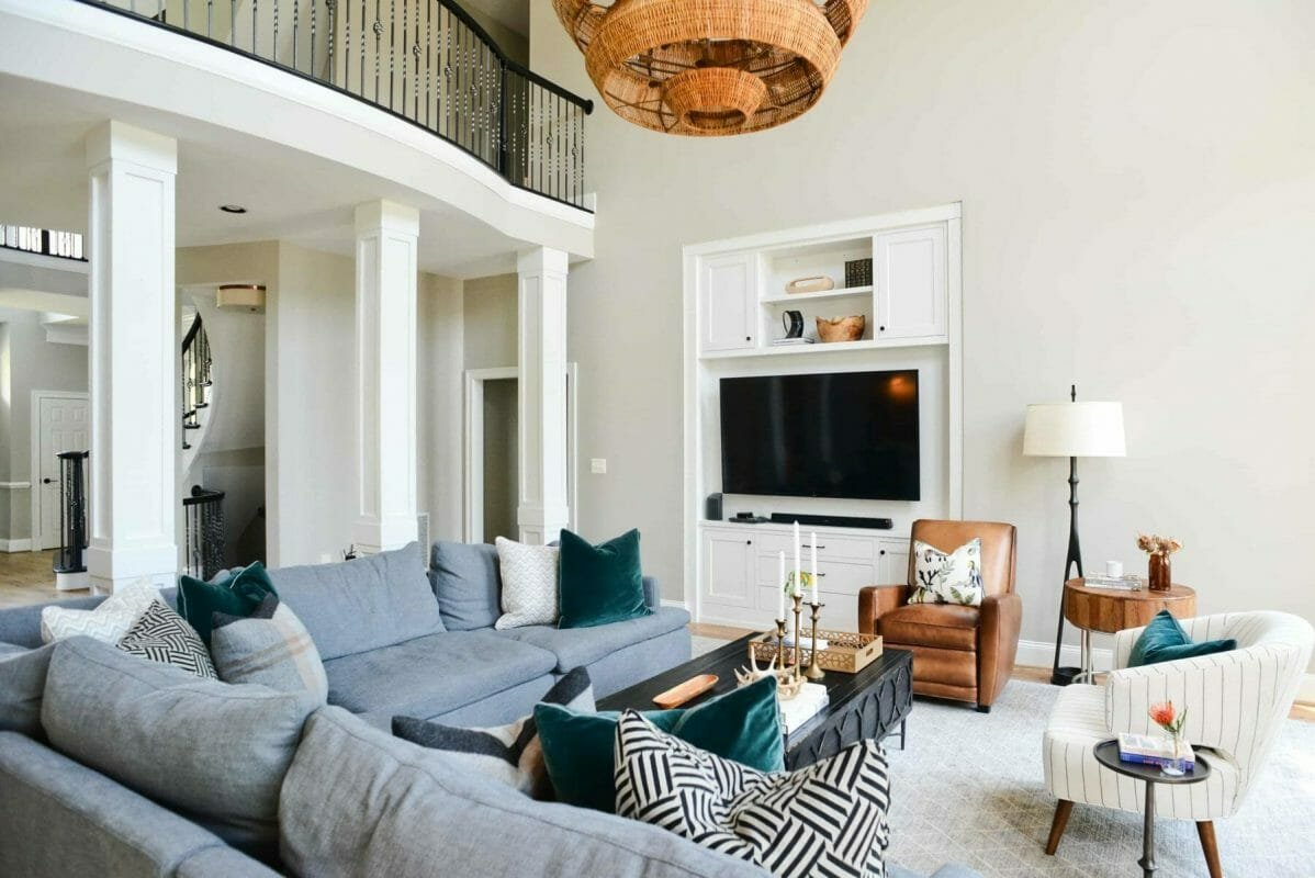 Open plan living room by top Baltimore interior design firm