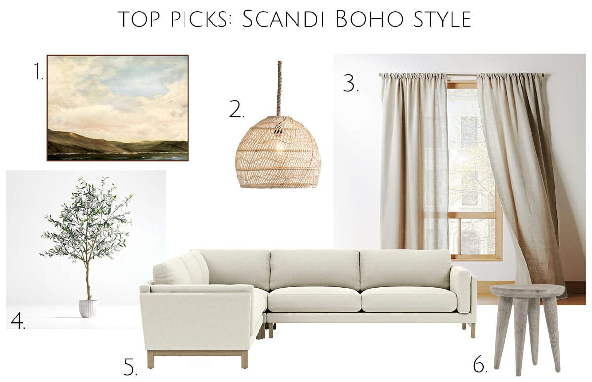 Top Picks for boho scandi living room