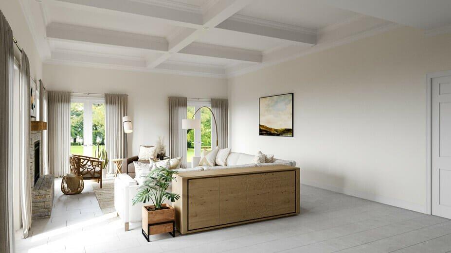 scandinavian boho style living room